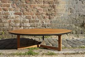 low round wood coffee table