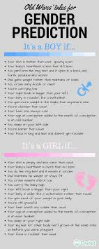 Gender Wives Tales Chart Old Wives Tales For Early Gender Prediction Baby Shower