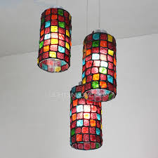 glass blown pendant lighting. 3light colorful glass blown pendant lights for bedroom lighting