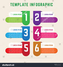 Simple Info Graphics Template Infographic Simple Elegant Infographics Stock Stock Vector