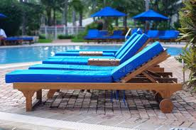 chaise lounge chairs by the pool stock image image of holiday calm