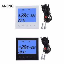 aneng wifi thermostat remote control electric floor heating system 1216a touch screen heated floor thermostat t46