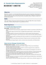 Sample Outside Sales Resume Outside Sales Representative Resume Samples Qwikresume