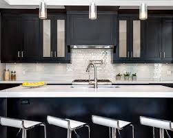 Kitchen Backsplash Dark Cabinets Kitchen Backsplash With Dark