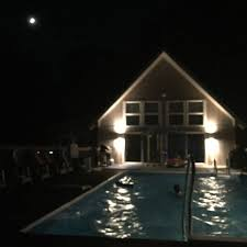 home swimming pools at night. Pool At Night Before House Was Painted Blue. Home Swimming Pools