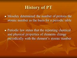 Periodic Table Chapter 12 Page History of the PT Mendeleev wrote ...