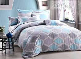 striped reversible calm sea king chambray comforter set blue and gray
