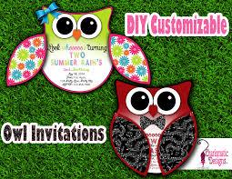 Diy Invitation Template Free Diy Customizable Owl Invitation Printable Template On