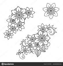 набор менди цветок рисунок хной татуировки украшение этнических