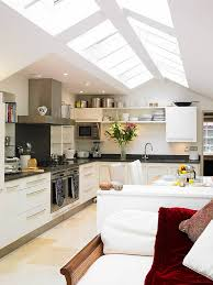 lighting ideas for sloped ceilings. Kitchen With Vaulted Ceiling Seems Like The Perfect Place For Skylights! [From: David Lighting Ideas Sloped Ceilings S