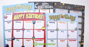Birthday Chart For Teachers 5 Fun And Unique Birthday Wall Ideas Printable Displays