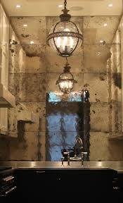 awesome mirrored wall backsplash metallic kitchen i would incorporate a section or strip of black chalk paint on the top