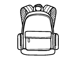 Small Picture A school backpack coloring page Coloringcrewcom