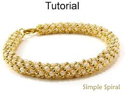 Spiral Beads Design Beading Tutorial Pattern Bracelet Necklace Russian Spiral Stitch Simple Bead Patterns Simple Spiral 4956