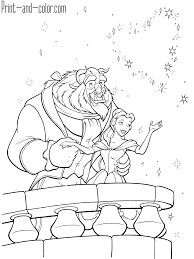 Beauty And The Beast Coloring Pages Print And Colorcom