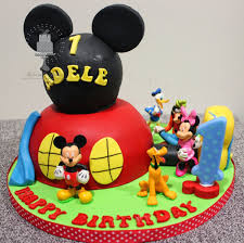 Mickey Mouse Clubhouse 1st Birthday Cake Delectable Delites Mickey