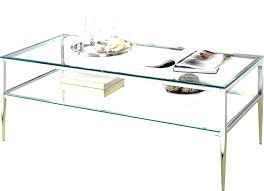 glass coffee table with shelf round glass coffee table with shelf cream reclaimed wood and top