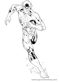 Supereroe Flash Disegno Da Colorare