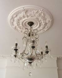 fireplace installation with coving ceiling rose chandelier 2