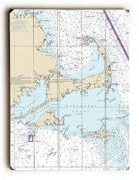 Cape Cod Wood Chart Ma Cape Cod Marthas Vineyard Nantucket Ma Nautical Chart Sign
