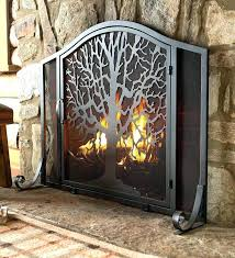 fireplace screens home depot canada decorative with doors
