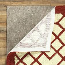 deluxe felt rug pad under mat material comparison birch lane