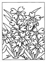 Kleurplaat Bloemen Hartjes