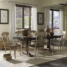 custom dining european clic customizable 7 piece table set by canadel kitchen tablesdining room