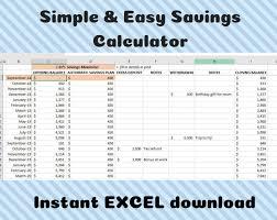 Savings Calculator Savings Tracker Savings Budget