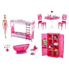 barbie furniture dollhouse. Girls: Barbie Doll And Furniture Gift Set: Dollhouse H