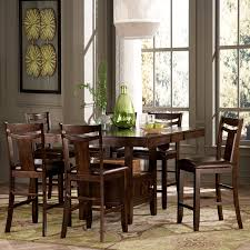 Pub Height Kitchen Table Sets Homelegance Broome 7 Piece Counter Height Expandable Storage