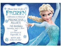 Birthday Invitations Frozen Birthday Invitations Simple
