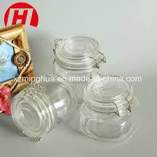 china clear kitchen food storage airtight seal lock lid jar glass jar china glass food jar food storage jar