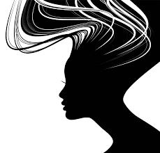 Woman Silhouette Face Illustration Black Long Hair Beauty Shadow