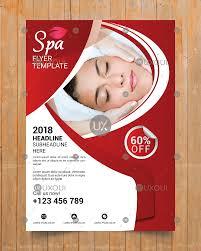 Beauty Wellness Spa Center Business Flyer Template Design Vector Uxoui