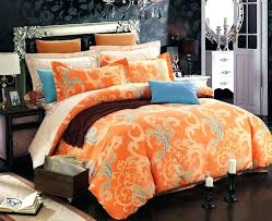 orange and brown comforter sets set queen chocolate burnt bedding inside piece or king for brow orange and brown comforter
