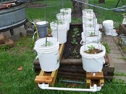 bucket gardening. Buckets On Rain Gutters Bucket Gardening