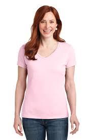 Hanes Nano Tee Size Chart Hanes Ladies Nano T Cotton V Neck T Shirt 100