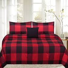 green duvet cover red check duvet cover red and black plaid bedding tartan duvet plaid comforter sets queen
