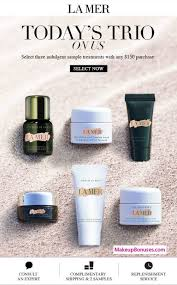 la mer 3 piece free bonus gift with 150 purchase at la mer details at makeupbonuses lamer lamer gwp
