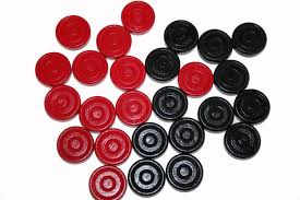 Wooden Game Pieces Bulk 100 Black OR Red Wood Checkers Game Pieces Checkers Game Game 48