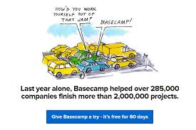 kick ass call to action examples and why they work wordstream call to action examples give basecamp a try