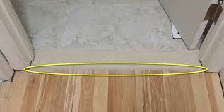 tile to wood transition and door frame tile wood transition gap