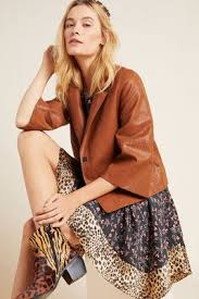 Hayden Embroidered <b>Faux Leather Jacket</b> | Anthropologie