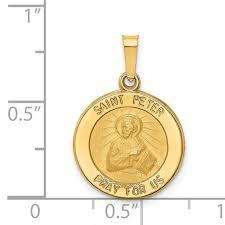 satin st peter medal hollow pendant