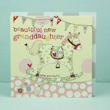 New Baby Granddaughter Card Grandparents Congratulations Card
