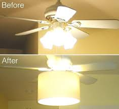 glass shades for ceiling fans add a drum shade to a tacky old ceiling fan to