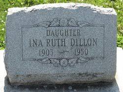 Ina Ruth Dillon (1903-1950) - Find A Grave Memorial
