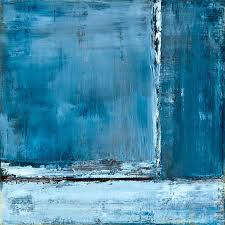 blue abstract painting by sue ennis art blue
