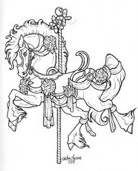 The Amazing and also Stunning Carousel Horse Coloring Pages ...